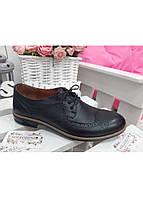Классические черные туфли оксфорты из кожи, размер от 40 до 45