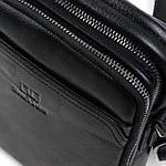 Сумка планшет мужская кожаная через плечо BRETTON черная (06-147), фото 4
