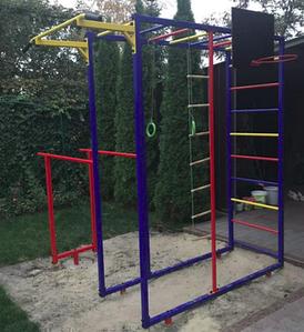 Спортивний майданчик-комплекс Dali-802 металева вулична для всієї родини у дворі будинку на дачі