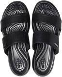 Шльопанці жіночі сандалі Крокси оригінал / Crocs women's Capri Dual-Strap Sandal (206089), Чорні, фото 3