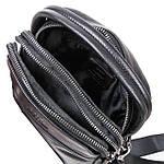 Сумка планшет мужская кожаная через плечо BRETTON черная 18*21*8 (06-149), фото 3