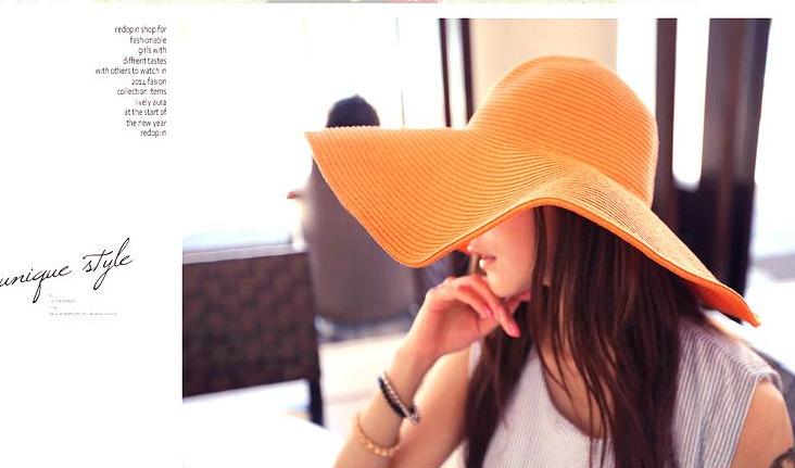 Жіноча пляжна капелюх Afrodita orange