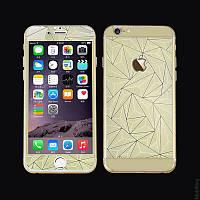 Защитная пленка Стекло iPhone 6 f/b Prizma 3D Gold