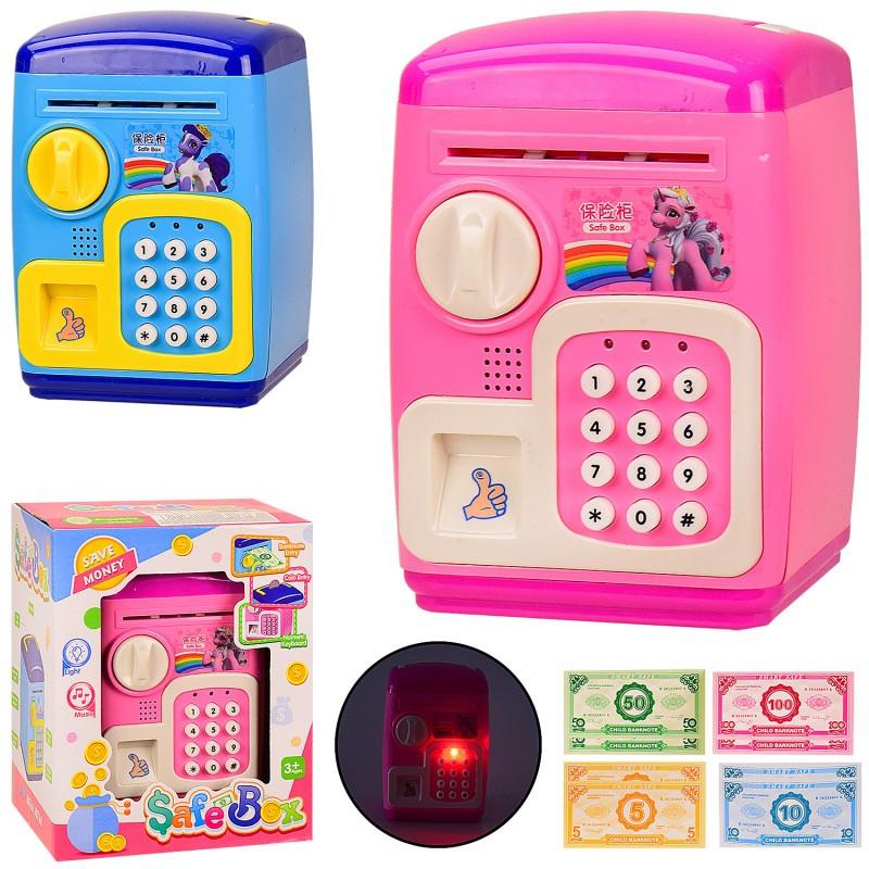 Интерактивная игрушка Электронная копилка-сейф 2 вида.