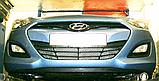 Декоративно-защитная сетка радиатора  Hyundai I30 бампер, фото 4
