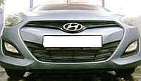 Декоративно-защитная сетка радиатора  Hyundai I30 бампер, фото 1