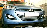Декоративно-защитная сетка радиатора  Hyundai I30 бампер, фото 5