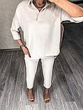 Жіночий весняний прогулянковий костюм з жатого крепу 46-379, фото 6