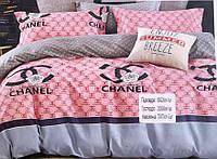 Постільний комплект оксамит-сатину Шанель
