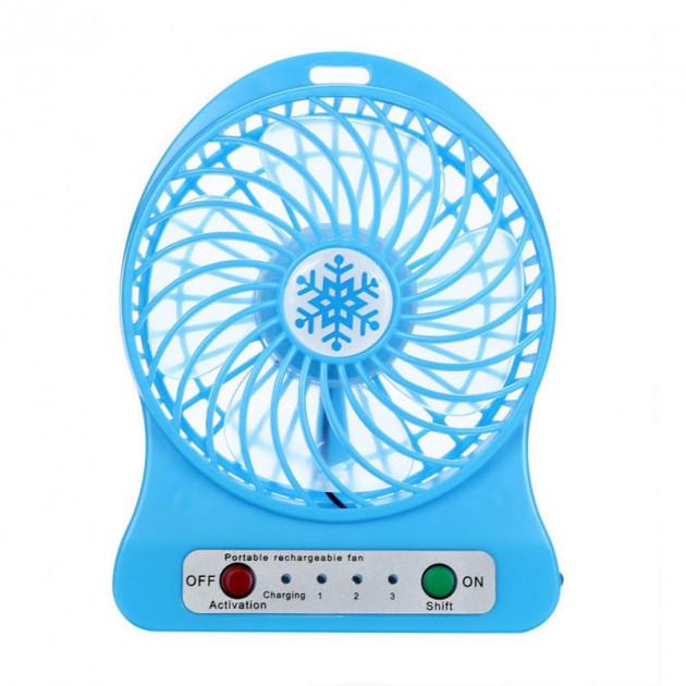 Переносний портативний вентилятор Ручний і Настільний UTM Синій