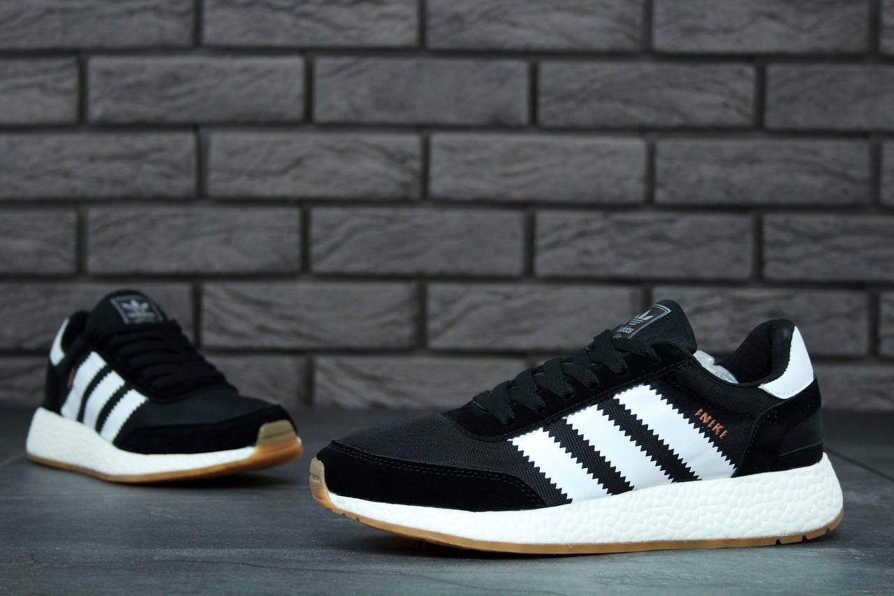 Женские черные Кроссовки Adidas Iniki