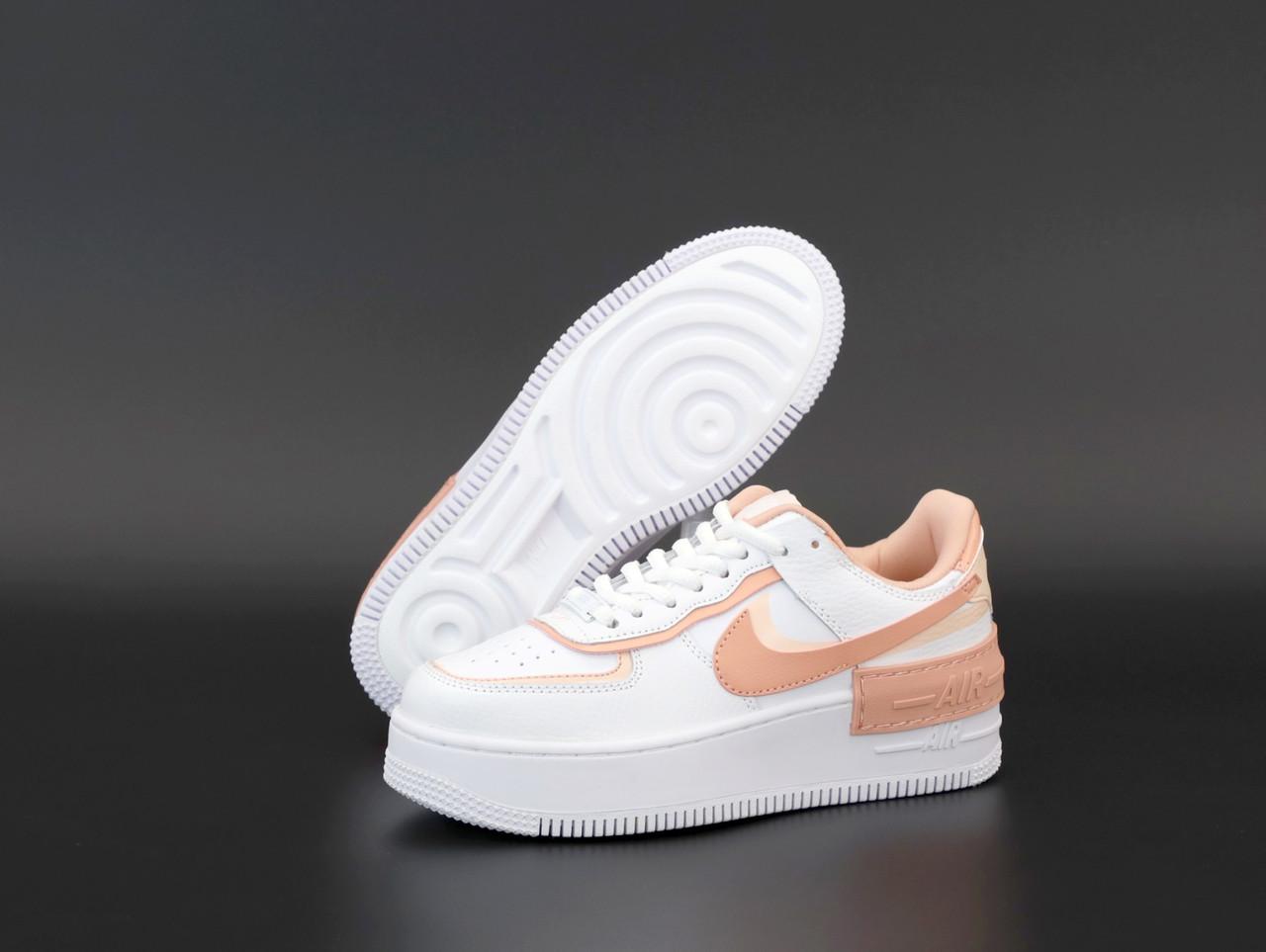 Жіночі білі Кросівки Nike Air Force Shadow