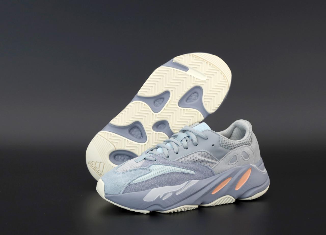 Чоловічі сірі Кросівки Adidas Yeezy Boost 700