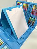 Набор для творчества рисования на 208 предметов Голубой, фото 4