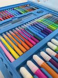 Набор для творчества рисования на 208 предметов Голубой, фото 2