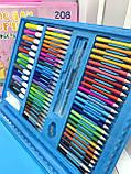 Набор для творчества рисования на 208 предметов Голубой, фото 5