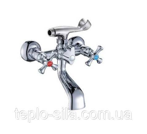 Смеситель для ванной с трьохпозиційним картриджным переключателем