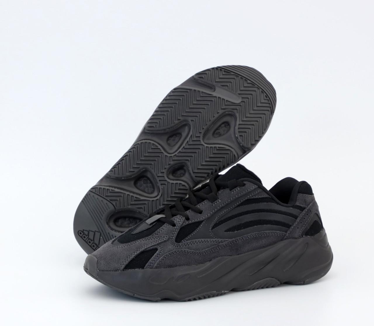 Чоловічі чорні Кросівки Adidas Yeezy Boost 700