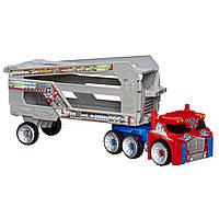 Большой Оптимус Прайм с трейлером (Optimus Prime Rescue Trailer) - Боты спасатели (Rescue Bots), Hasbro, фото 1