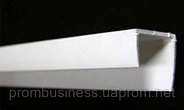 Уголок торцовочный ПВХ  для гипсокартона 2,5м (стартовая полоса)