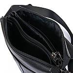 Сумка планшет чоловіча шкіряна через плече BRETTON чорна 22*25*7 (06-154), фото 3