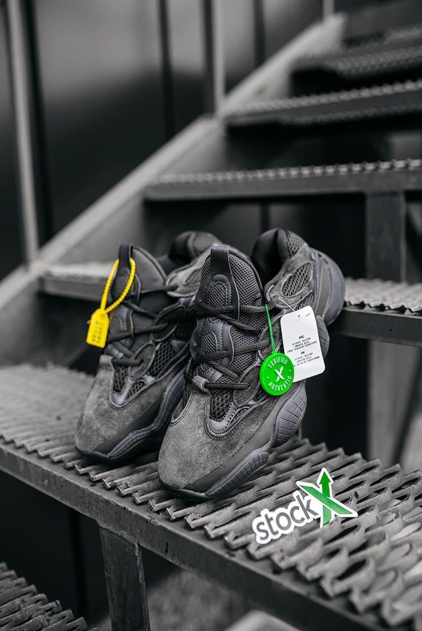 Мужские черные Кроссовки Adidas Yeezy Boost 500