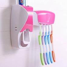 Тримач з дозатором для зубних щіток SKY Рожевий