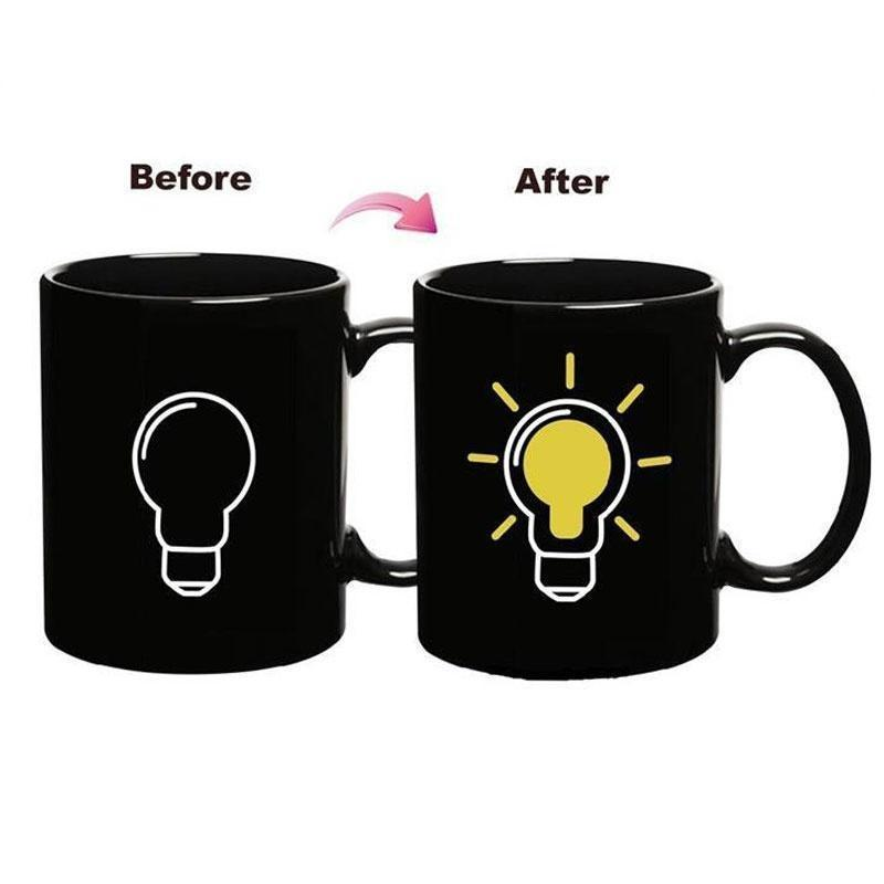 Керамічна кружка Before-after Лампочка