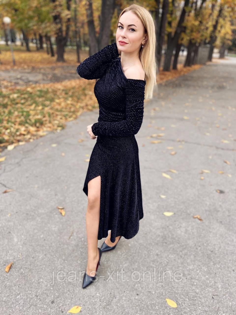 Платье женское L(р) черное 1383 КНР Весна-B