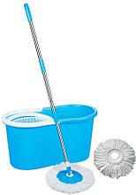 Набір для прибирання з віджимом Spin MOP 360 Блакитна