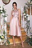 Плаття нарядне з відрізний спідницею і мереживом рожеве Пайпер б/р, фото 2