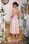 Плаття нарядне з відрізний спідницею і мереживом рожеве Пайпер б/р, фото 3