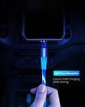 Магнитный светящийся кабель синхронизации Luminous для IOS Android Type-C 1 3 в 1 Радужный, фото 5