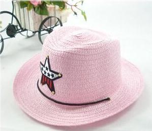 Детская пляжная соломенная шляпа Summer star пудра