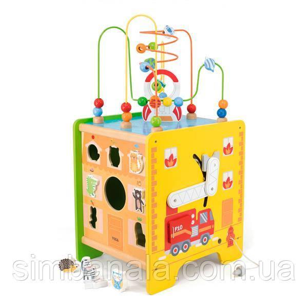 Дерев'яний ігровий центр Viga Toys Великий бизикуб 5 в 1 (44548FSC)