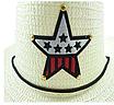 Детская пляжная соломенная шляпа Summer star brown, фото 3