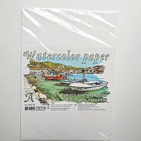 Бумага для акварели Watercolor Paper формат A3 в прозрачной упаковке, плотность 200 г/м2, 10 листов, ПА3110Е