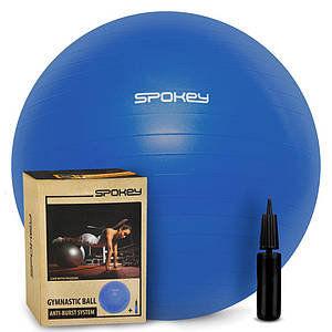 Гимнастический мяч для спорта, фитбол + насос, мяч для фитнеса Spokey Fitball lIl 65, 75 см (920938)