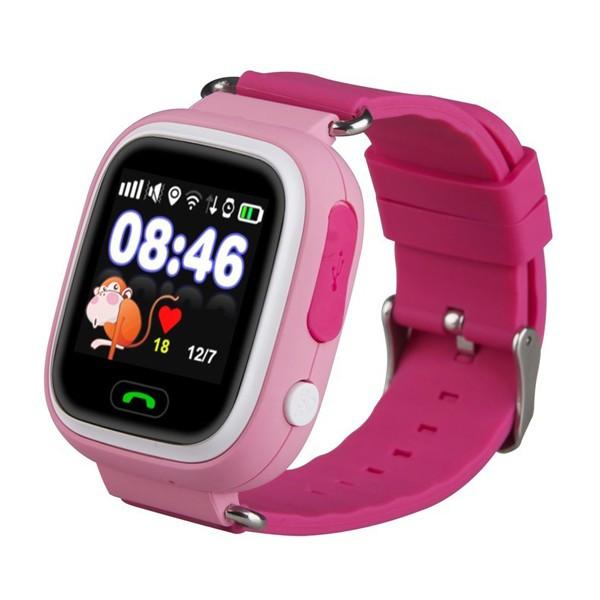 Розумні дитячі годинник Smart Baby Watch Q80 Рожеві