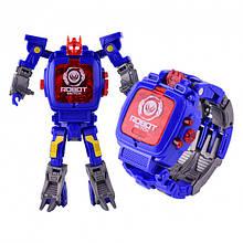 Дитяча іграшка Robot Watch годинник робот-трансформер 2 в 1 Blue