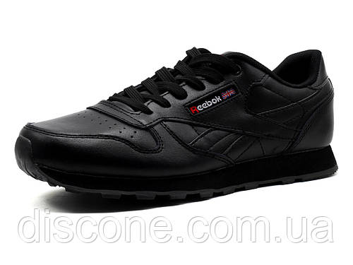 Кроссовки Reebok Classic Jogger мужские, кожаные черные