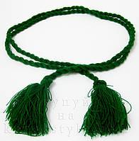 Пояс до вишиванки об'ємний зелений