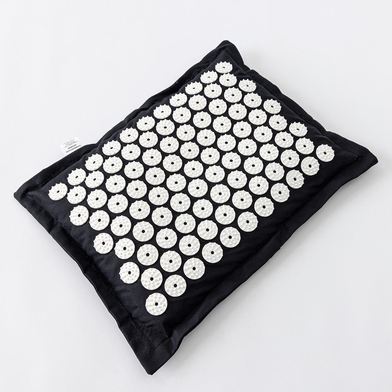 Подушка массажная акупунктурная (аппликатор Кузнецова) массажер для головы/шеи/спины OSPORT Premium (apl-017)