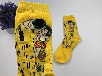 Шкарпетки Високі Жіночі Чоловічі City-A Our Tanks Картини Поцілунок (Густав Климнт), фото 2