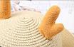 Детская пляжная соломенная шляпа Panda star blue, фото 2