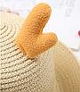 Детская пляжная соломенная шляпа Panda star brown, фото 3