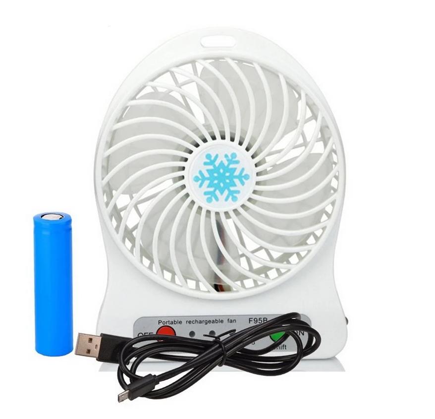 Переносний портативний вентилятор Ручний і Настільний UTM Білий