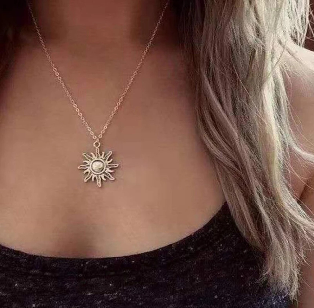 Цепочка кулон ожерелье солнце очень красивое