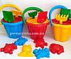 Большой песочный набор, 6 предметов, пасочки, игрушки для песочницы,ведро