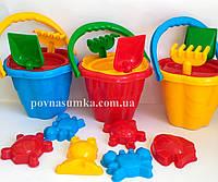 Большой песочный набор, 6 предметов, пасочки, игрушки для песочницы,ведро, фото 1